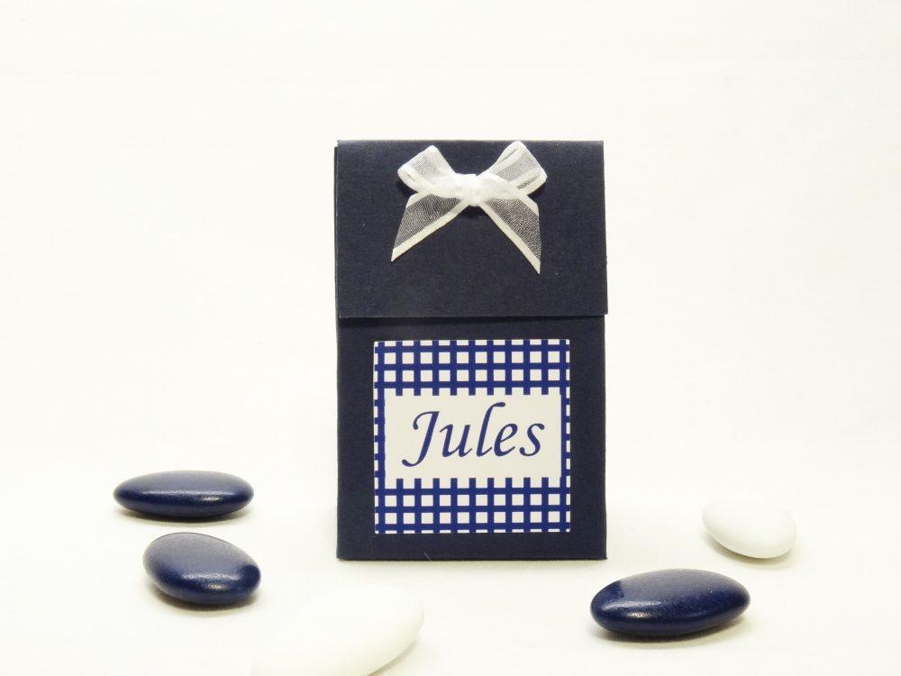 Doopsuikerdoosje blauw - Jules