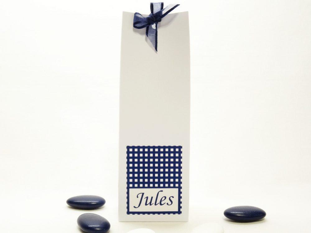 Doopsuikerdoosje hoog wit - Jules