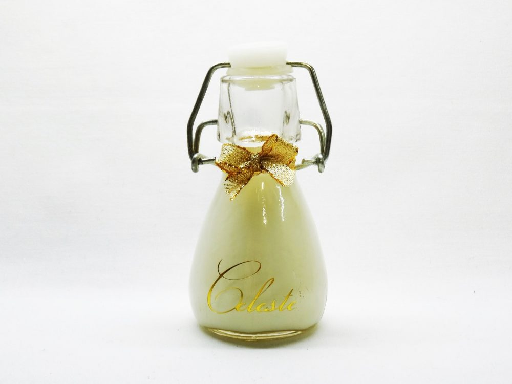 glazen flesje met vanillejenever - Celeste