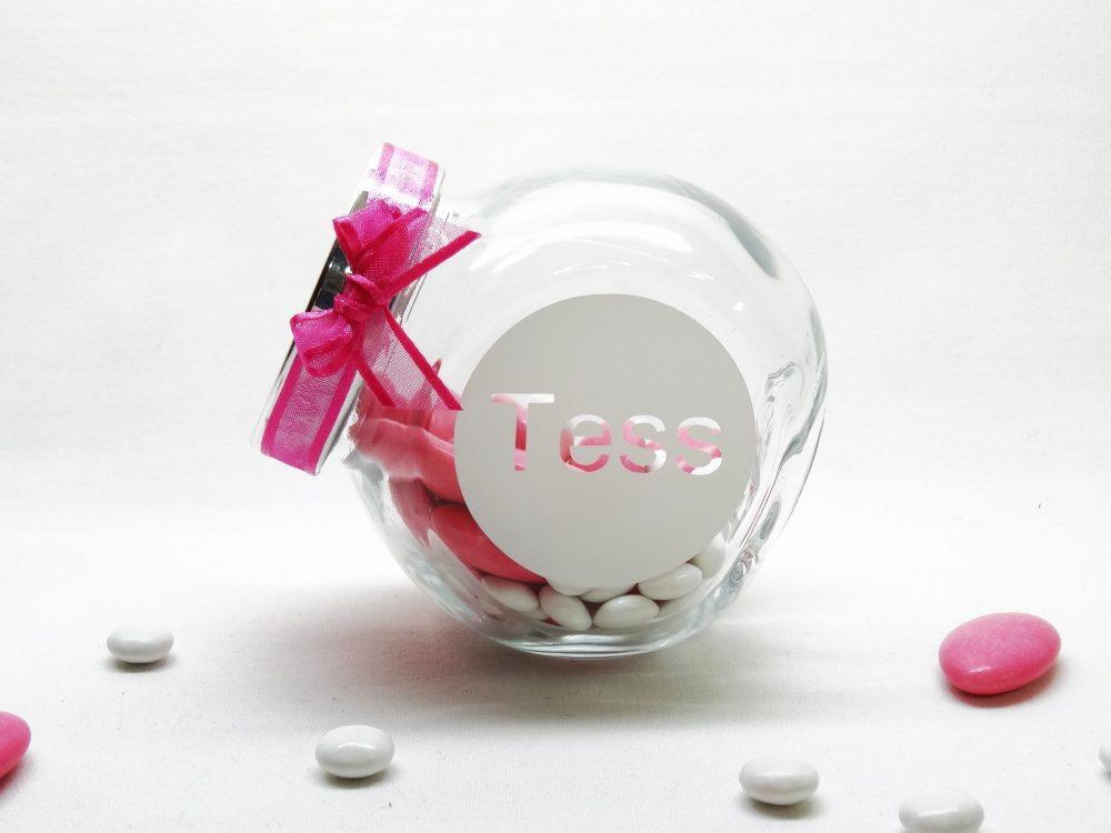 snoeppot glas - Tess