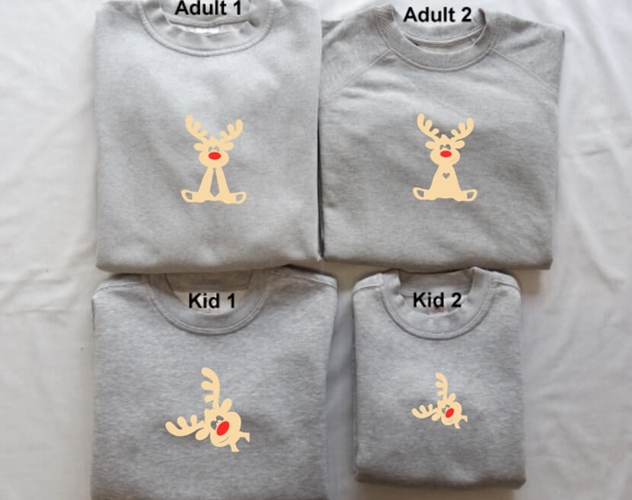 matching sweater - familie rendier