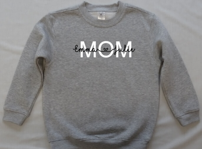 sweater met opschrift mom